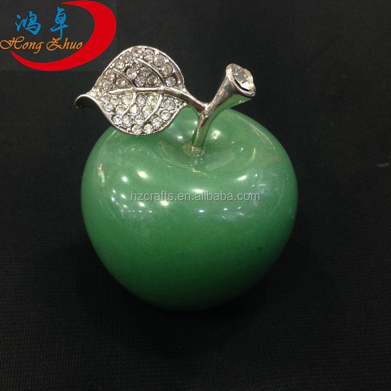 Romantic Valentine's Day Gifts Wholesale Crystal Gemstone Apple