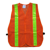 Mesh fabric safety vest reflective