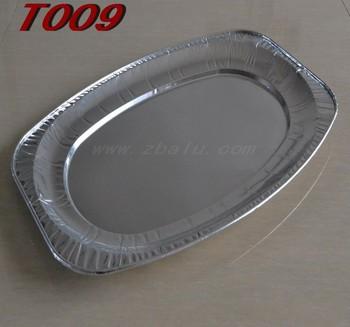 Foshan feuille d 39 aluminium jetable ovale servant grand - Plat aluminium jetable ...