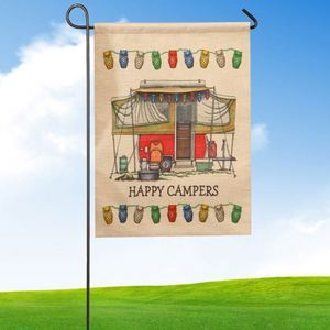 Wholesale 30*45Cm Custom Logo Double Sided Digital Double Sided Printing Burlap Garden Flag Sets,House Flag,Flag