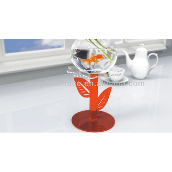 Acrylic Coloured Flower Shaped Vase Fish Tank Pedestal Stand Buy