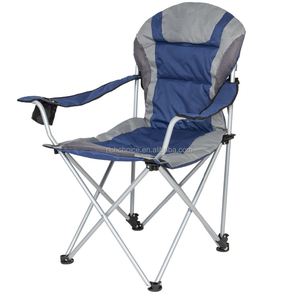 Deluxe Padded Camping Fishing Beach Chair With Portable Carrying Case