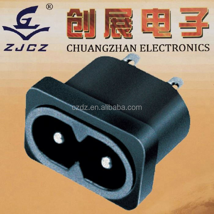 2014 Hot Sale 3 Pin & 2 Pin Ac Power Socket,12 volt switch female dc connector