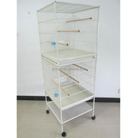 Pet Products Double Stack Large Breeding Bird Parrot Cages With Wheels
