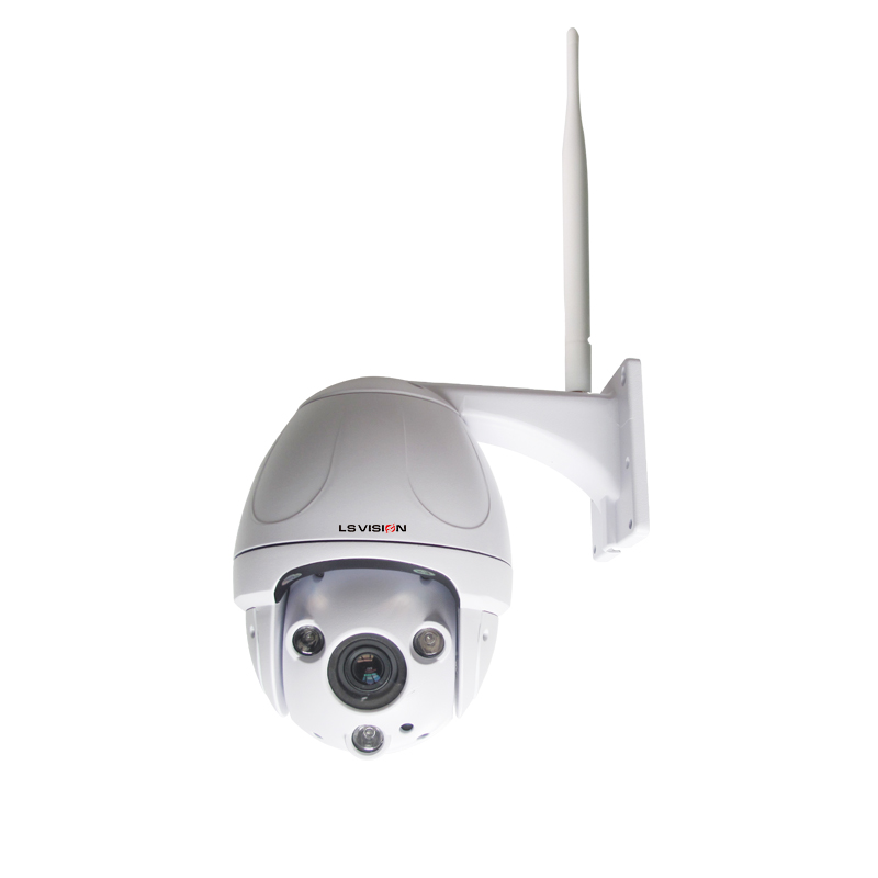 LS VISION Hisilicone 1920*1080 Resolution Horizontal Rotation With Wall Bracket Wifi Affordable PTZ Security Cameras