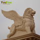 Outdoor Stone Life Size Lion Statue Mold with Wings