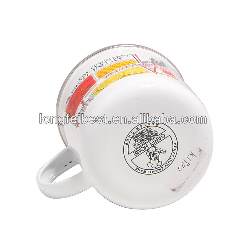 high quality printed enamel coffee mug