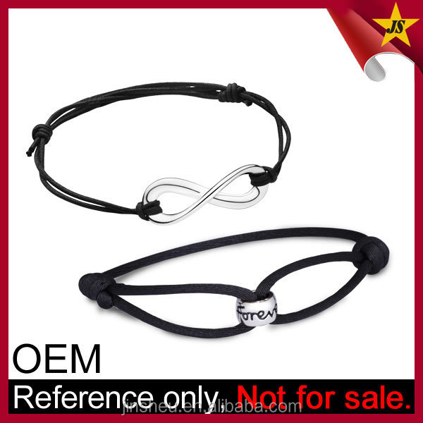 Couple Sweet Love Infinity Symbol Leather Bracelet