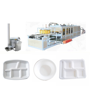 High efficiency fully automatic thermocol plate making machines with robot arm