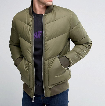 Mens Down Filled Jacket Army Color Quilted Goose Down Jacket Buy Army Down Jacket,Goose Down Jacket,Mens Down Filled Jacket Product on