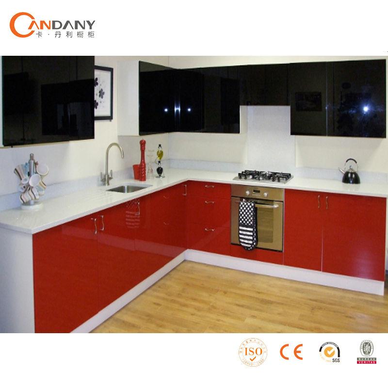 Moderno gabinete de cocina de estilo europeo pared de la for Cocinas estilo moderno
