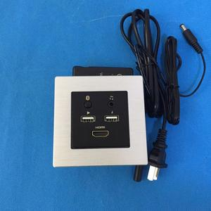 aluminum frame panel hotel room media hub /mini smart media all in one socket with bluetooth and usb