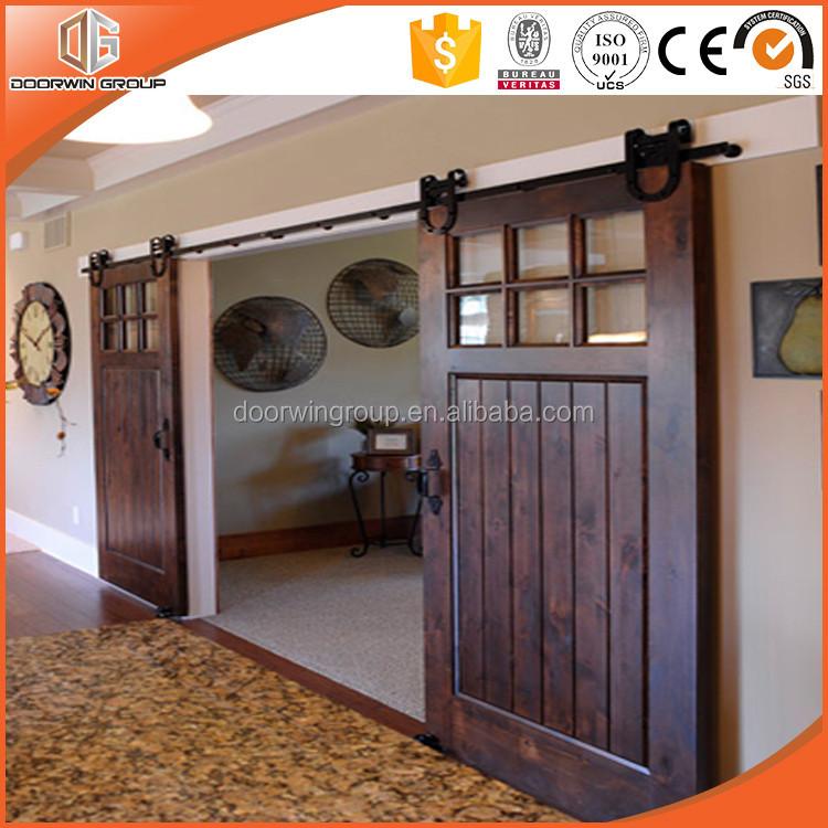 Comercio al por mayor de madera maciza puerta corredera for Riel puerta corredera