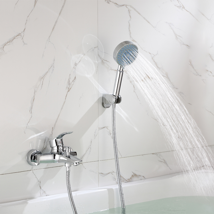 Luxury design good quality chrome bathroom brass bathtub mixer faucet