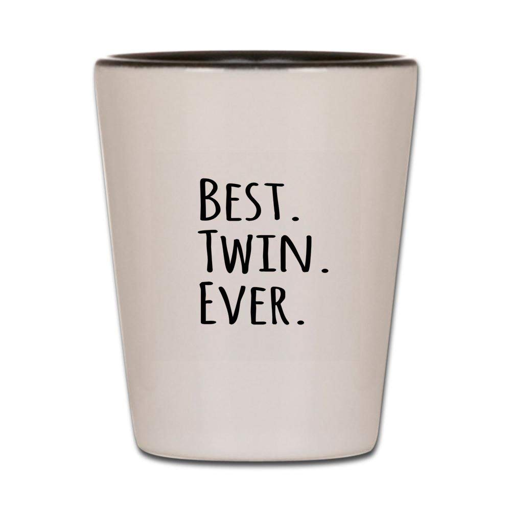 CafePress - Best Twin Ever Shot Glass - Shot Glass, Unique and Funny Shot Glass