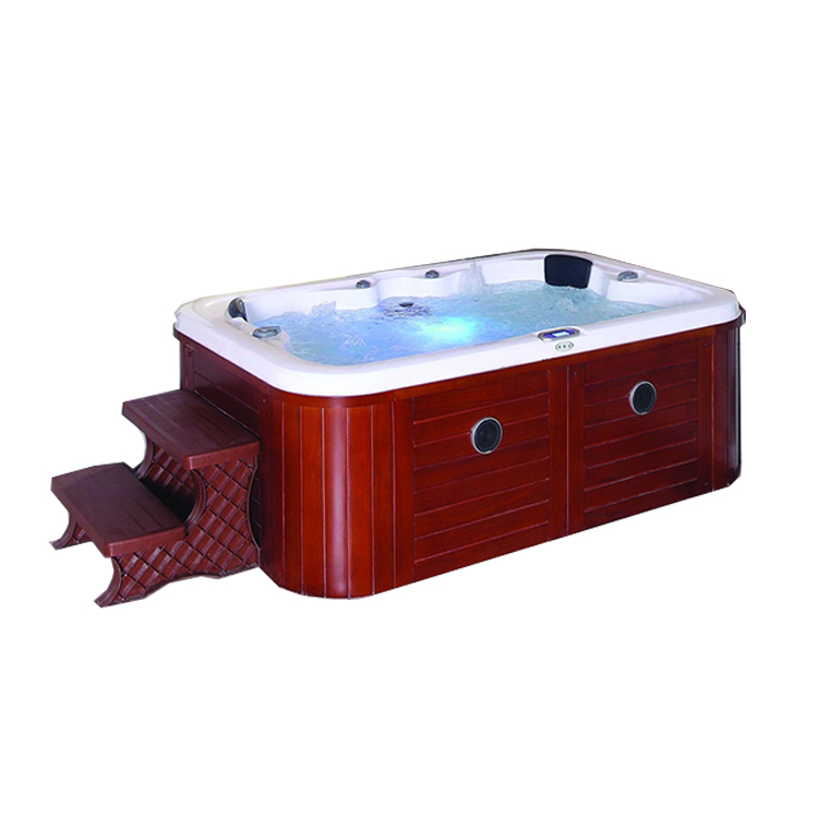 SMBR-099 USA einfache design hydro 4 person acryl bad wasserfall pumpe 5''air jet im freien massage spa bathtubtub whirlpool