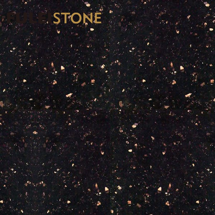 Black Galaxy Granite Floor Tiles 60x60