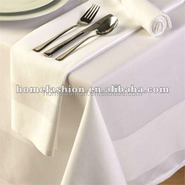 100%cotton Tablecloth;satin Band Table Cloth
