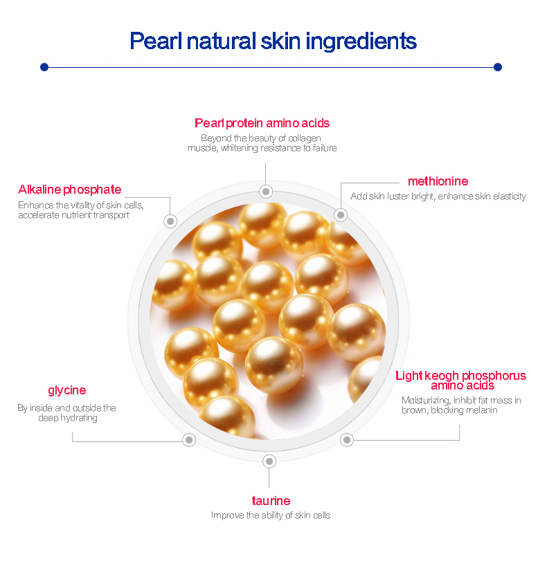 Pearl collagen crystal facial mask,good for daily skin care