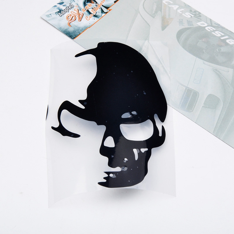 New Arrive 12*8CM Cool Skull Car Stickers Decals Funny And Creative Car Styling Car Decoration Accessories JL*QP0052*60