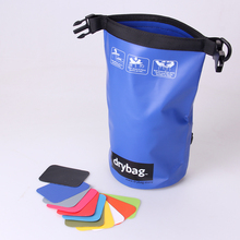 Sinicline new developed blue PVC with screen cloth bag waterproof for water sports