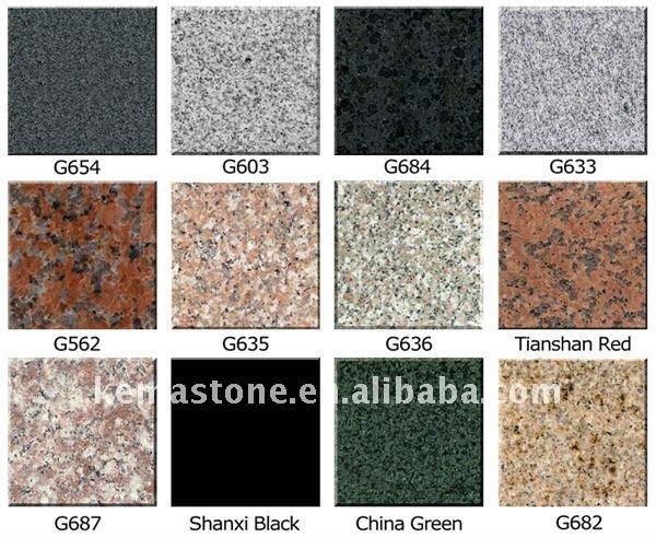 Verschiedene granit arten granit produkt id 525152094 for Tipos de granito para pisos
