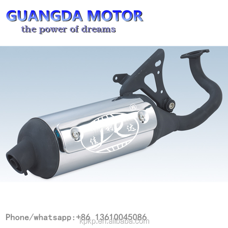 All The Old Set Black And Silver Modified Motorbike Muffler CNC Aluminum Alloy Muffler For YAMAHA ZR90