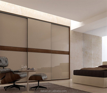 Modern Bedroom Wardrobe 3 Track Sliding Closet Door