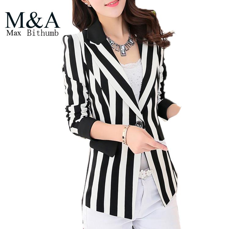 Black striped jacket ladies