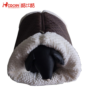 High quality PV fleece foldable unique cheap pet bed for dogs with zipper