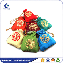 Hot sell custom drawstring linen jewelry bags with logo