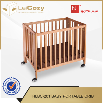 Superbe Hotel Room Safety Wooden Foldable Baby Portable Crib