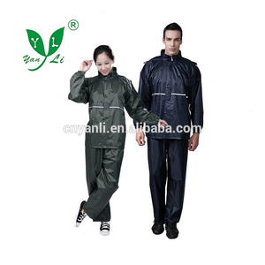 Water-proof 170T polyester PVC rain jacket