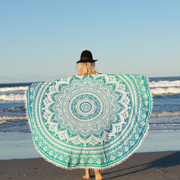 Microfiber Circle Printing Round Beach Towel Hawaii Whole