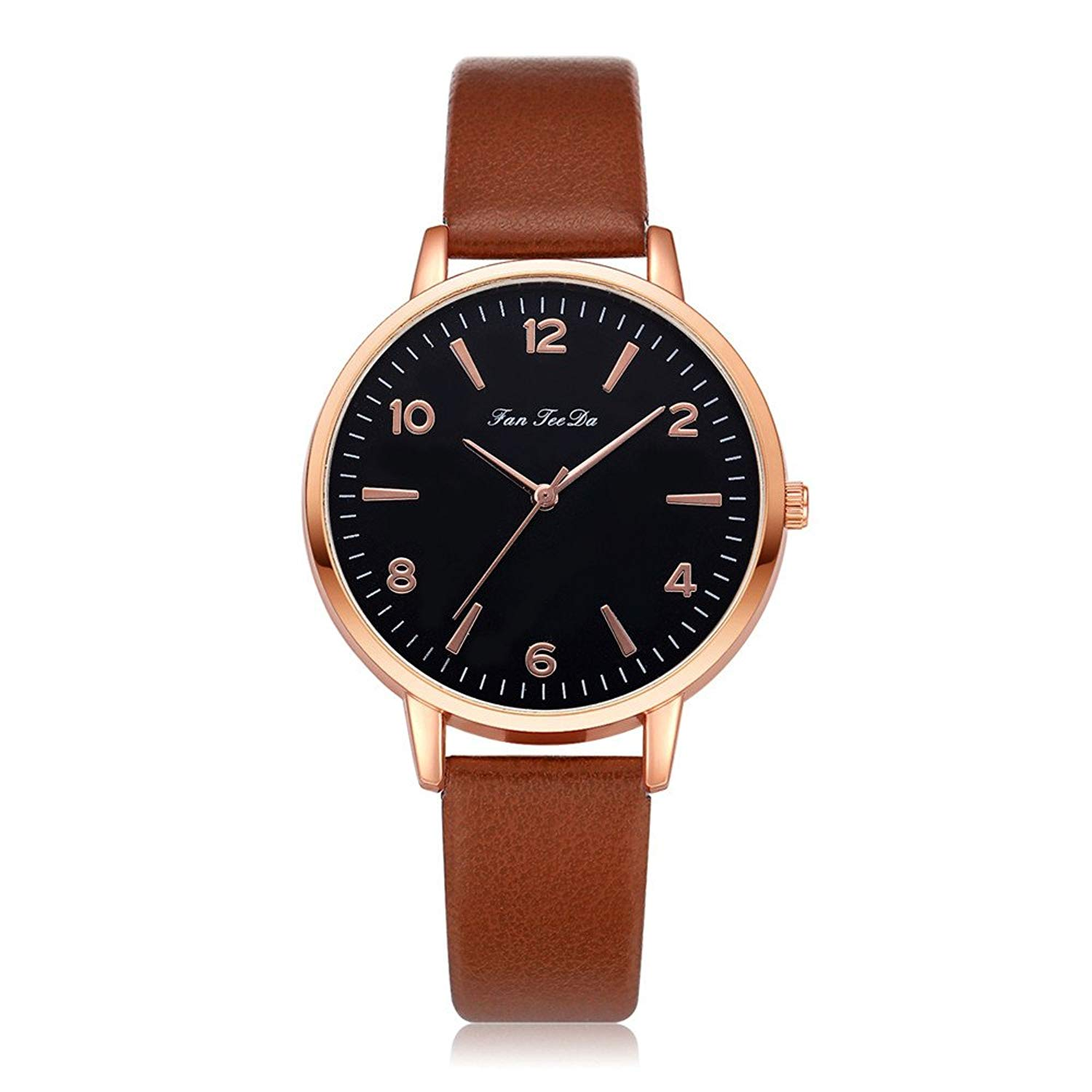 Womens Quartz Watches On Sale, POTO Quartz Womens Waches Clearance Casual Luxury Stainless Steel Round Wristwatch Womens Leather Band Analog Alloy Wrist Watch For Ladies