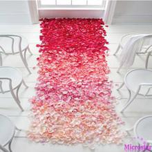 Wedding Events Decoration 500pcs Silk Rose Petals Table Artificial Flowers Engagement Celebrations Party Supplies