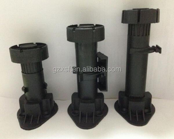 Plastic Leveling Feet Kitchen Base Cabinet Adjustable Legs