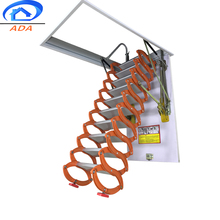 Space Saving Scissor Loft Ladder With Nonslip Step