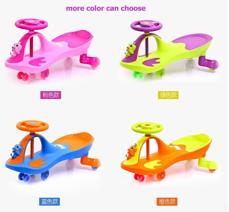 Baby twist car kids swing car PP plasma car for 3 6 9 years old with music and Frog Prince front toys