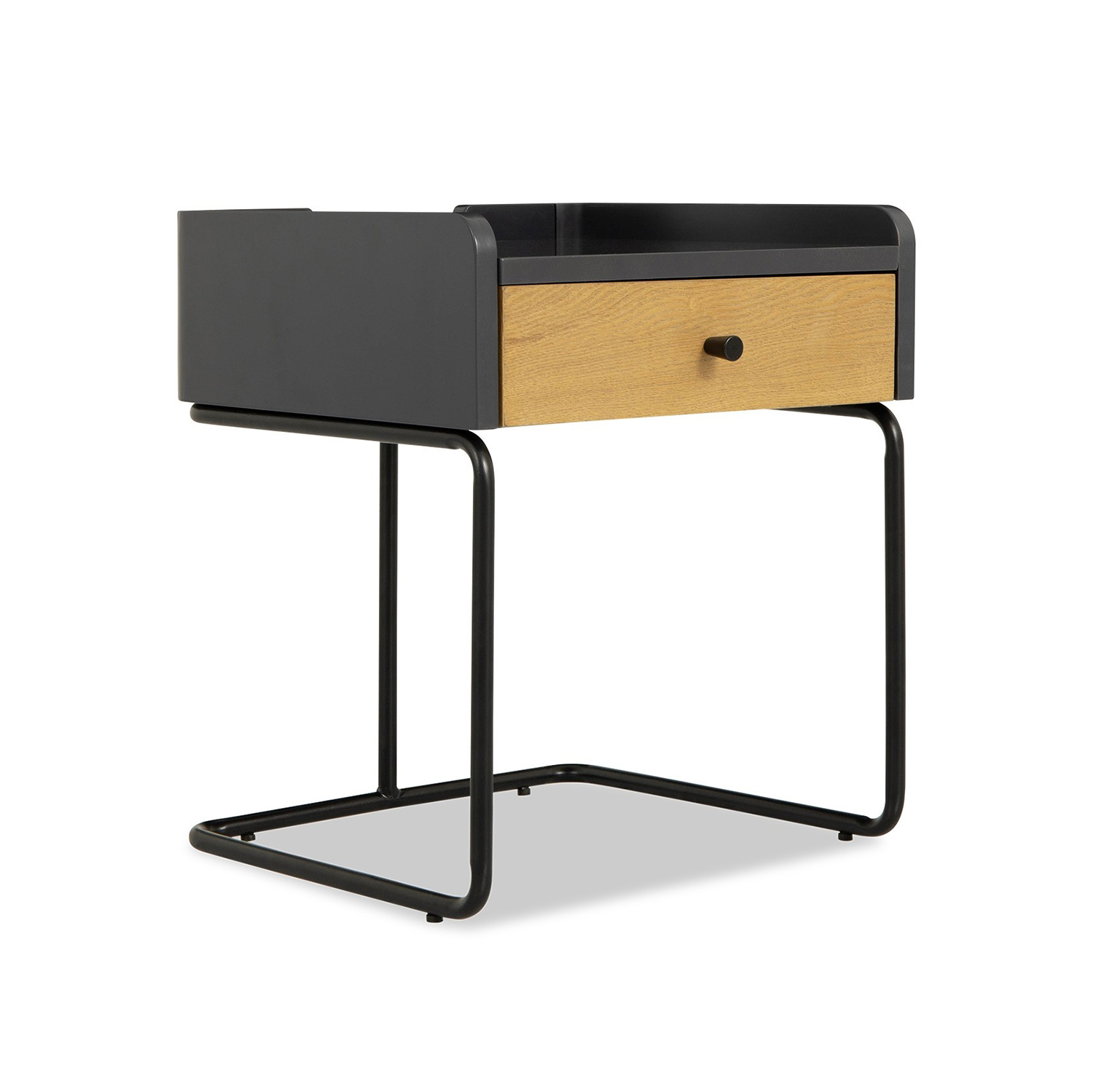 Customsized cheap modern bedroom furniture mid century black wall mounted nightstand