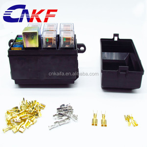 Car seat relay fuse box relay holder 5 engine compartment insurance holder include 5 relay 12V 80A and 1relay 12V 40A