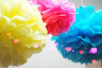 colorful tissue paper pom poms hanging flower ball for wedding party decoration