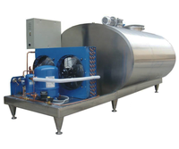 1000 Liter Stainless Steel Milk Storage Tank Temperature Control Tank