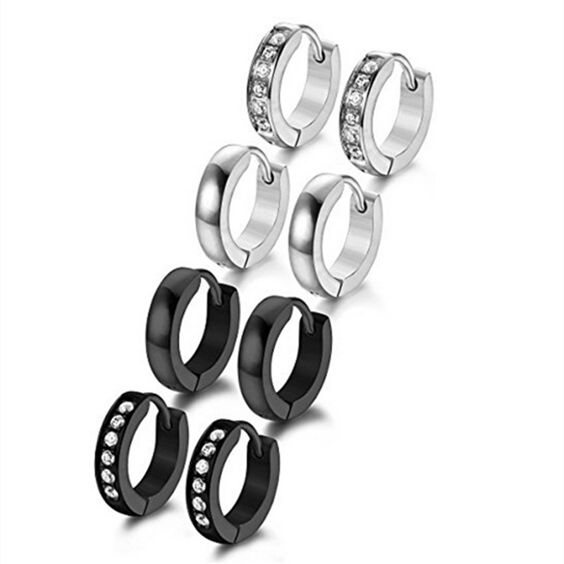 Yiwu Meise Stainless Steel Small Hoop Earrings for Men Women Ear Piercing