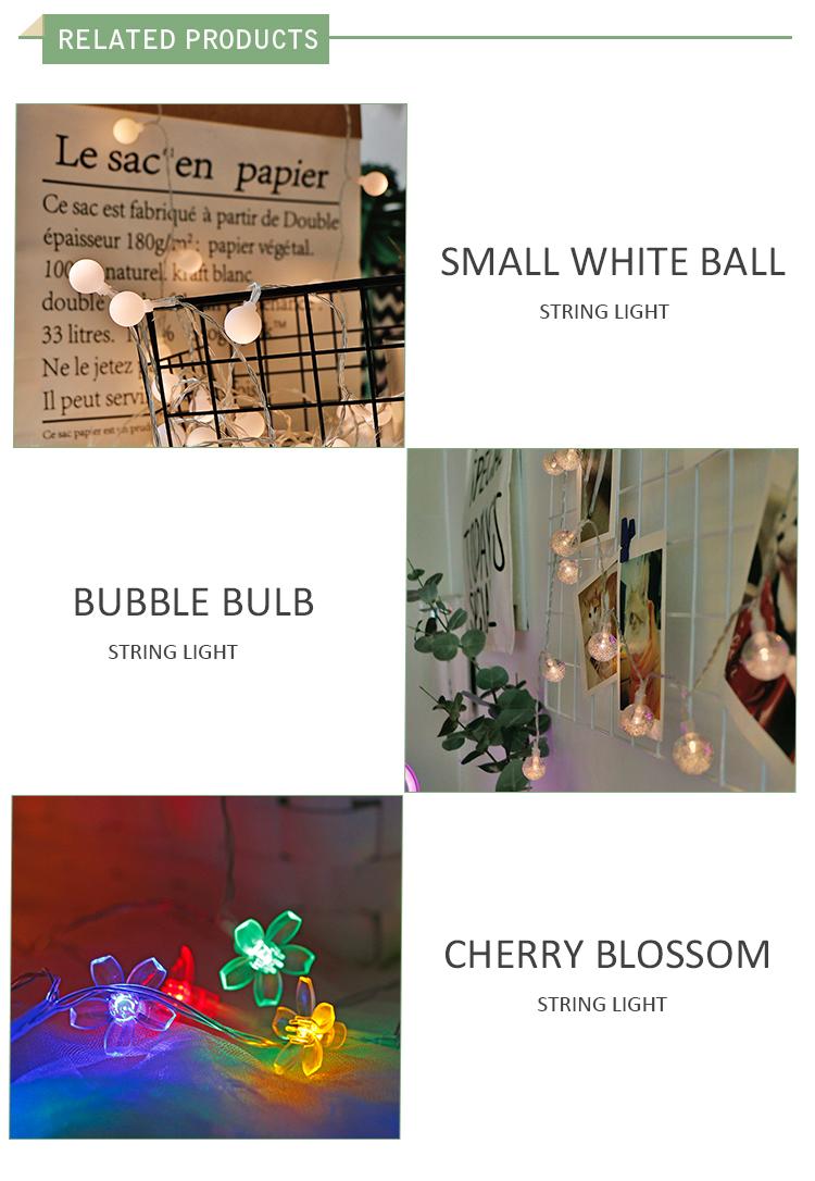 Holiday Garland globe led star string light Christmas light patio lights for garden wedding decoration