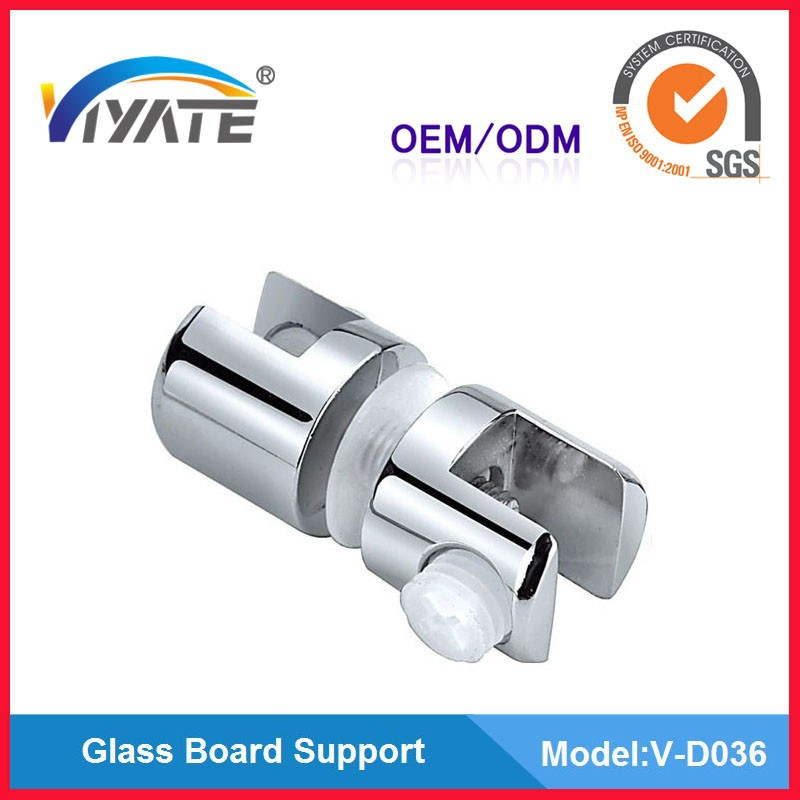 Double sides Zinc alloy glass panel clamp/glass board support/glass bracket