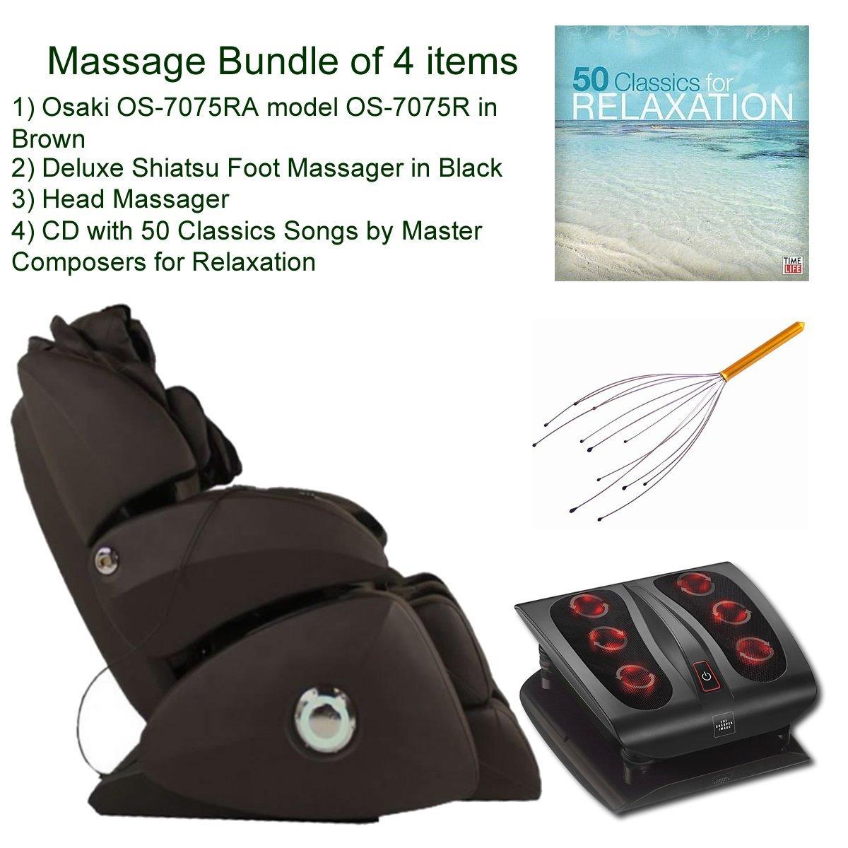 Get Quotations · Massage Bundle Of 4 Items: Osaki OS 7075B Cream Model OS  7075R Executive