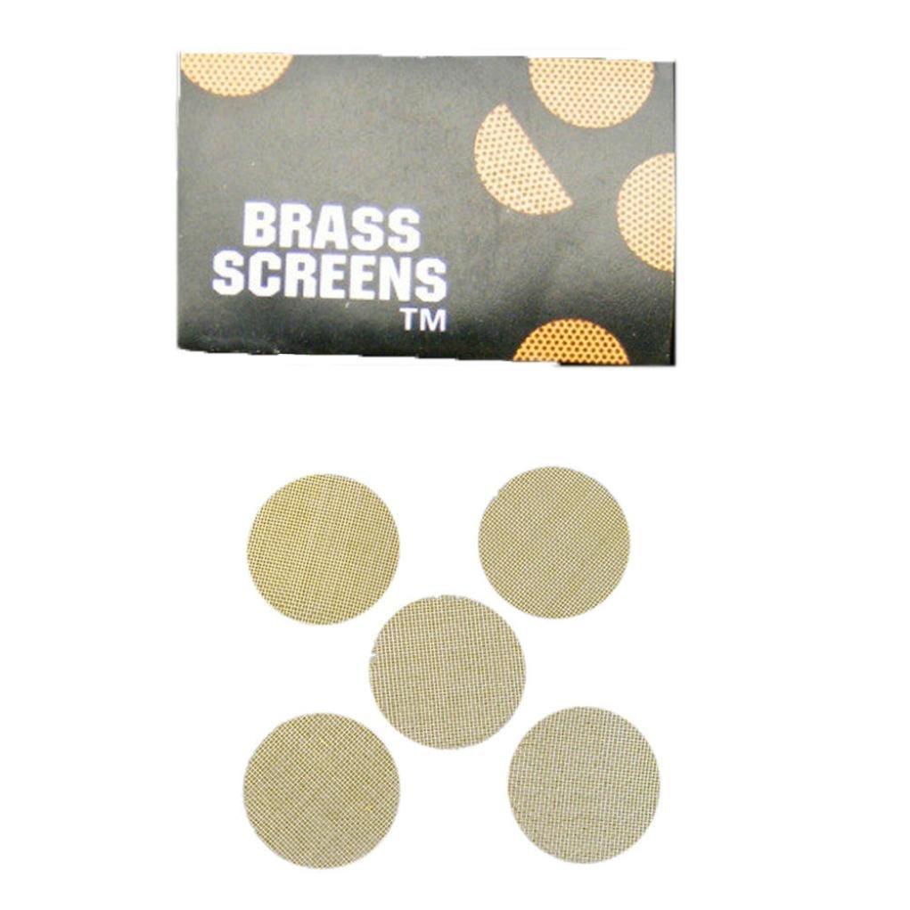AMA(TM) 50 Pieces Multi-functional Hookah Water Pipe Metal Filters Smoke Pipes Screen Gauze (Gold)