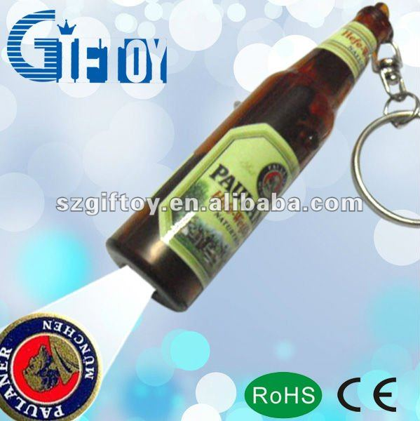 promotional gifts keychain with bottle shape projector
