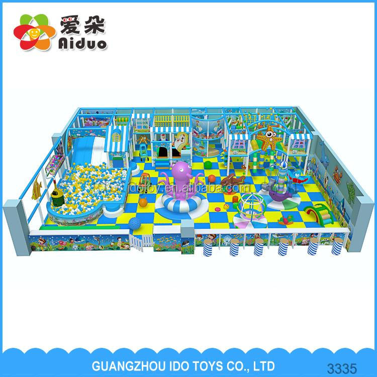 indoor playground equipment children play house with funny trampoline bed